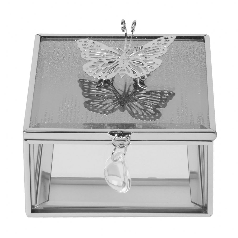 Glass Jewellery Box Sophia Butterfly Collection